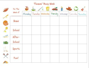 busy week boy calendar
