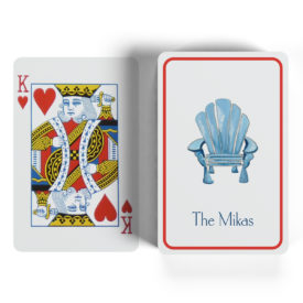 Adirondack chair image adorns classic playing cards