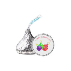 Ornaments Candy Sticker that fits on the bottom of a Hershey's kiss.