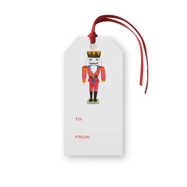 Nutcracker Classic Gift Tag printed on White paper.