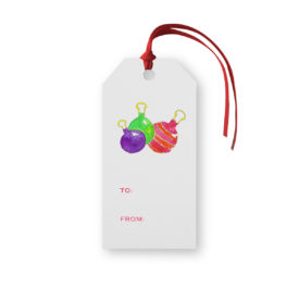 Ornaments Classic Gift Tag printed on White paper.