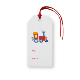 Train Classic Gift Tag printed on White paper.