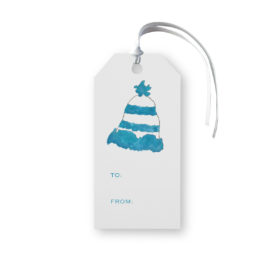Winter Hat Classic Gift Tag printed on white paper.