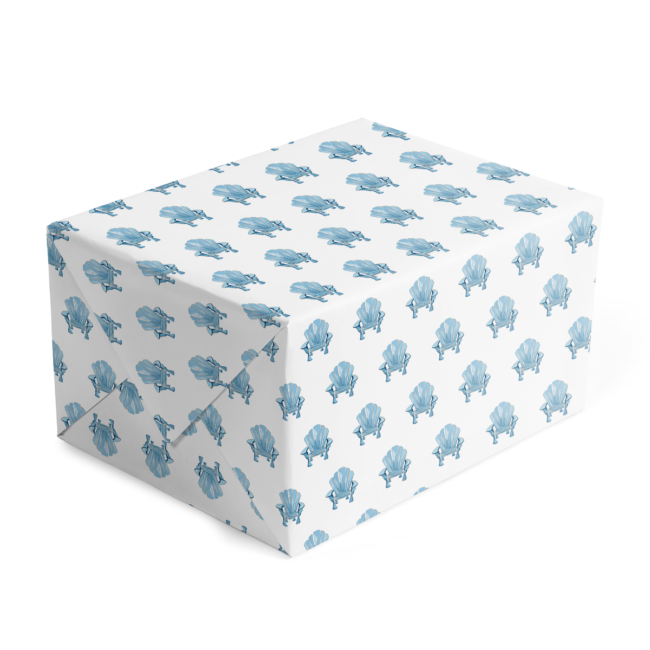 Adirondack Chair Classic Gift Wrap printed on White paper.