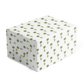 Holiday Topiary Classic Gift Wrap printed on White paper.