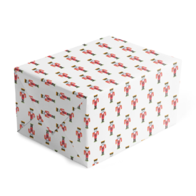 Nutcracker Classic Gift Wrap printed on White paper.