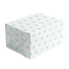 Snowflake Classic Gift Wrap printed on White paper.
