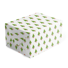 Christmas Tree Classic Gift Wrap printed on White paper.