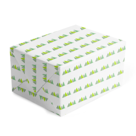 Christmas Trees Classic Gift Wrap printed on White paper.