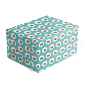 Birthday Cake Preppy Gift Wrap printed on White paper.