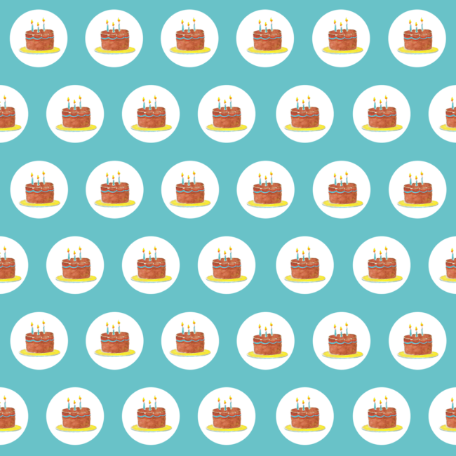 Birthday Cake Preppy Gift Wrap