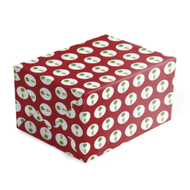 Holiday Topiary Preppy Gift Wrap printed on White paper.