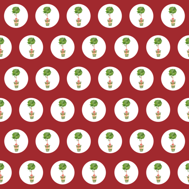 Holiday Topiary Preppy Gift Wrap