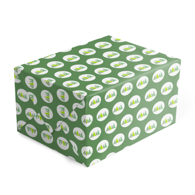 Christmas Trees Preppy Gift Wrap printed on White 70 lb paper.