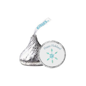 Snowflake Candy Sticker that fits on the bottom of a Hershey's kiss.