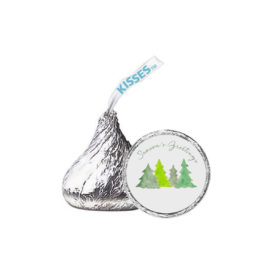 Christmas Trees Candy Sticker that fits on the bottom of a Hershey's kiss.