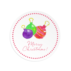 Ornaments Round Gift Sticker