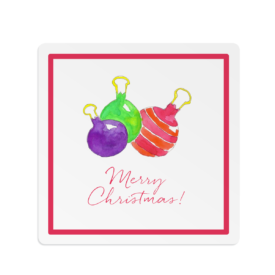 Ornaments Square Gift Sticker