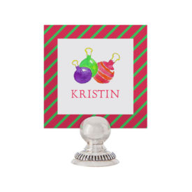 Ornaments Place Card printed on White paper.