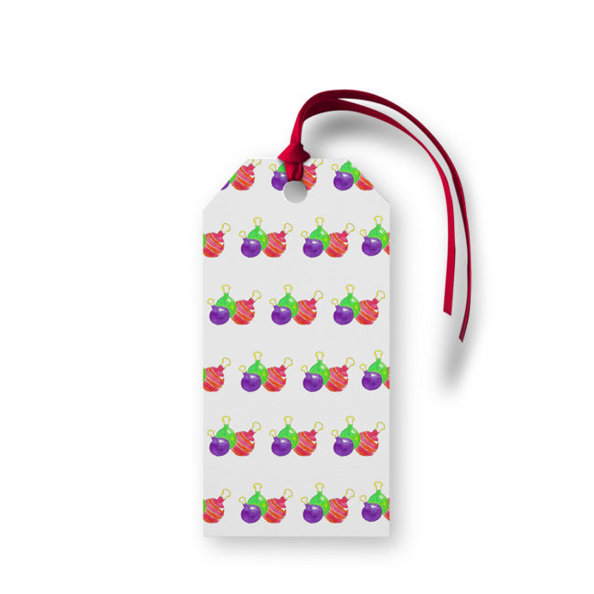 Ornaments Motif Gift Tag printed on White paper.
