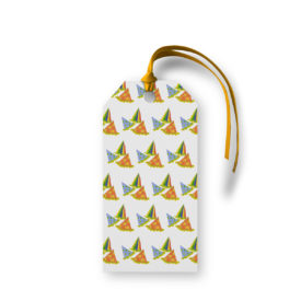 Party Hats Motif Gift Tag printed on White paper.