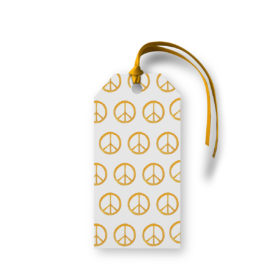 Peace sign Motif Gift Tag printed on White paper