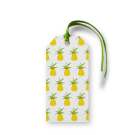 Pineapple Motif Gift Tag printed on White paper.