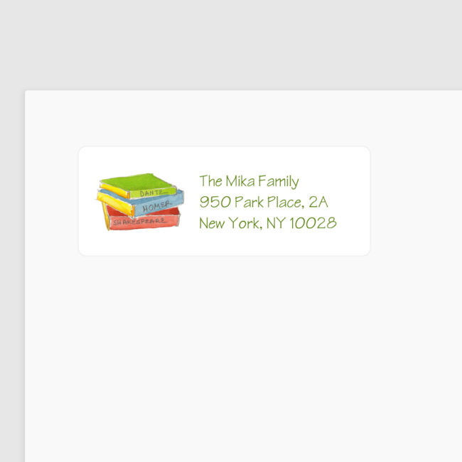 Books Return Address Label