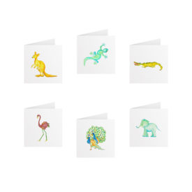 Animals Tiny Gift Card Set