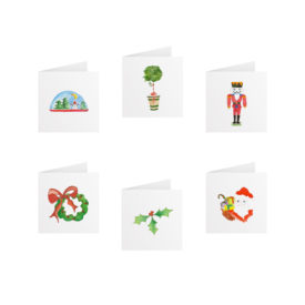 Holiday Tiny Gift Card Set printed on White paper.