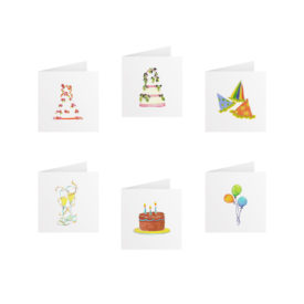 Party Tiny Gift Card Set printed on White paper.