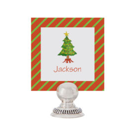 Christmas Tree Place Card printed on White paper.