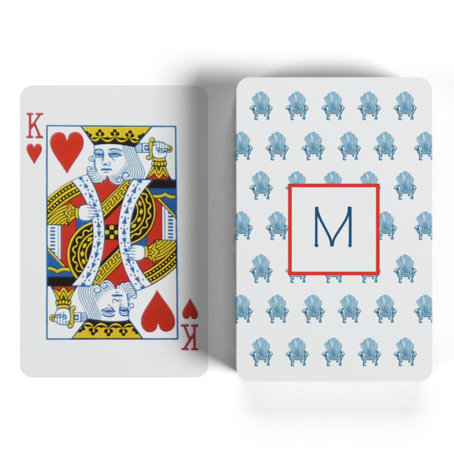 adirondack chair motif playing cards