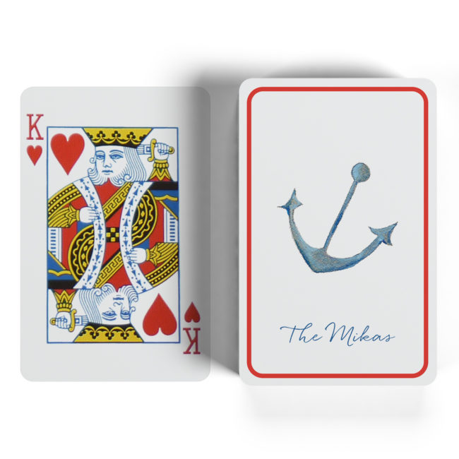 anchor classic playing cards