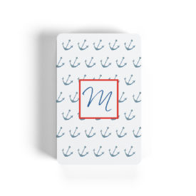 anchor motif adorns playing cards
