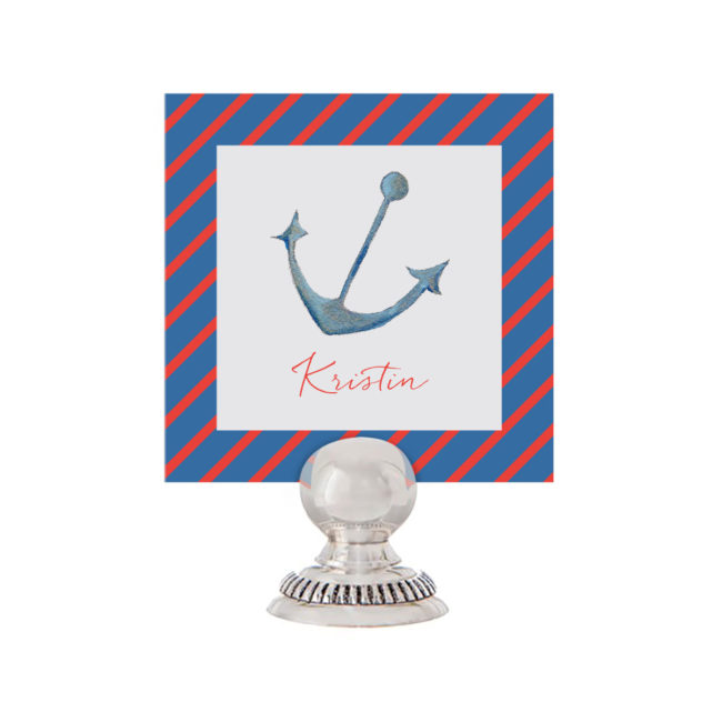 Anchor Place Card printed on White paper.