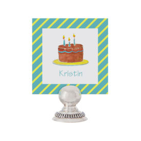 Birthday Cake Place Card printed on White paper.