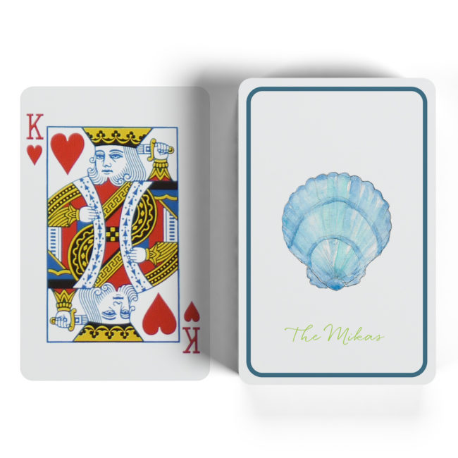 blue shell classic playing cards