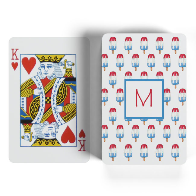 bomb pop motif playing cards