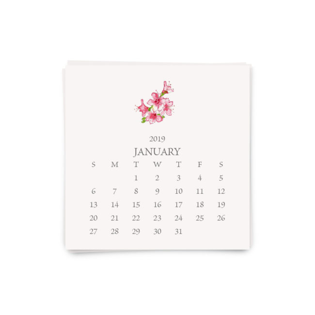 custom desk calendar refill printed on White paper.