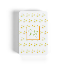 daisies motif adorns playing cards