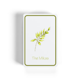 fern image adorns classic playing cards