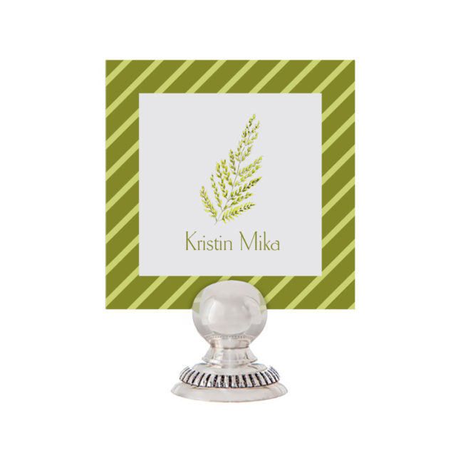 Fern Place Card printed on White paper.