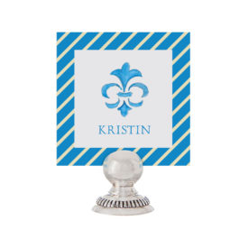 Fleur de Lis Place Card printed on White paper.