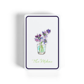 Flowers in a cup adorn classic Bicycle playing cards