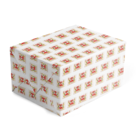 Holiday House Classic Gift Wrap printed on white paper.