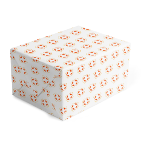 life preserver classic gift wrap printed on white paper.