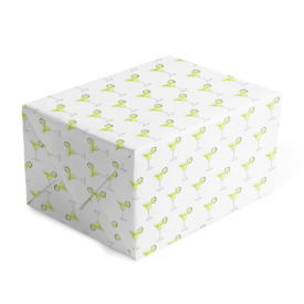 margarita classic gift wrap printed on white paper.