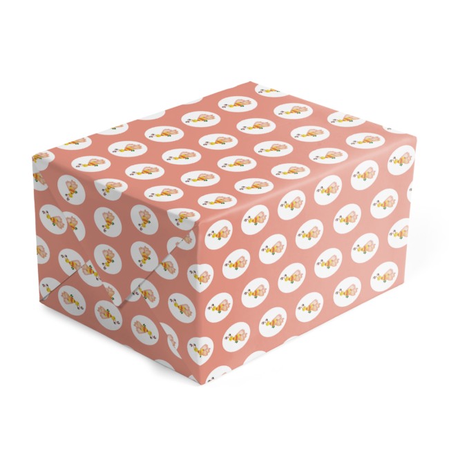 bee preppy gift wrap printed on 70lb paper.