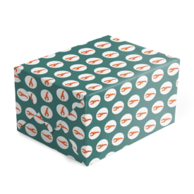 lobster preppy gift wrap printed on White paper.